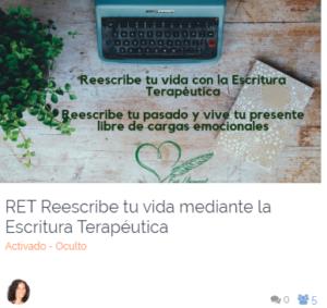 Escritura Terapéutica Eva Lleonart Reescribe tu vida